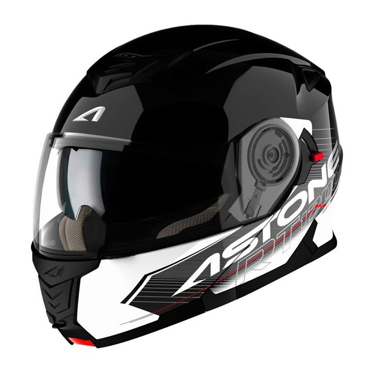 Capacete Astone RT1200 Touring Black White-1