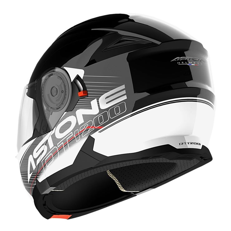 Capacete Astone RT1200 Touring Black White-3