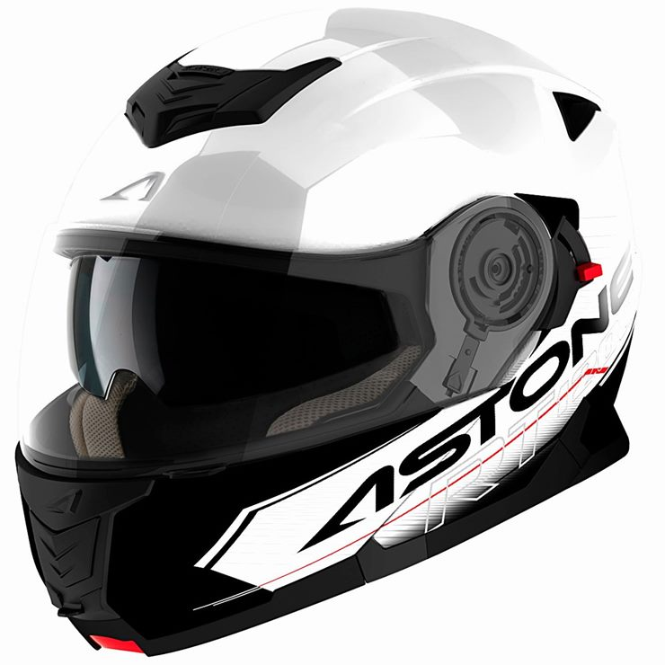 Capacete Astone RT1200 Touring White Black-1