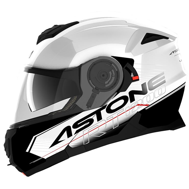 Capacete Astone RT1200 Touring White Black-2